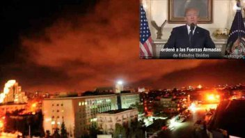 EEUU, Francia y Reino Unido bombardearon Siria