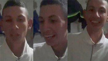 Video: El asesino del colectivero se ríe y pide perdón por matar
