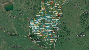 Las lluvias pusieron fin a la sequía en gran parte del territorio entrerriano