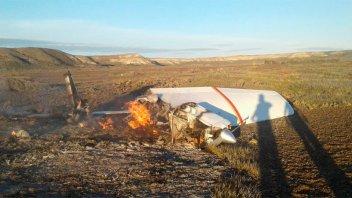 Cayó una avioneta en un campo de Península Valdés: dos muertos