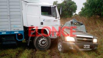 Nueva tragedia vial: Murieron dos personas en un choque sobre Ruta 12