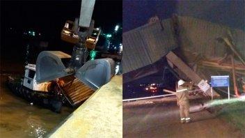 Barco chocó un muelle y varias personas cayeron al río Paraná: Fotos y videos