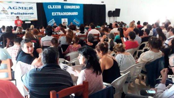 El Congreso de Agmer rechazó la propuesta salarial del Gobierno provincial