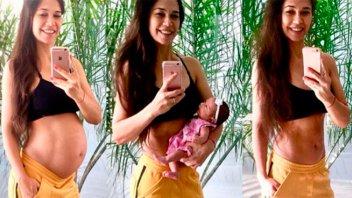Mostró su figura un mes después de dar a luz: