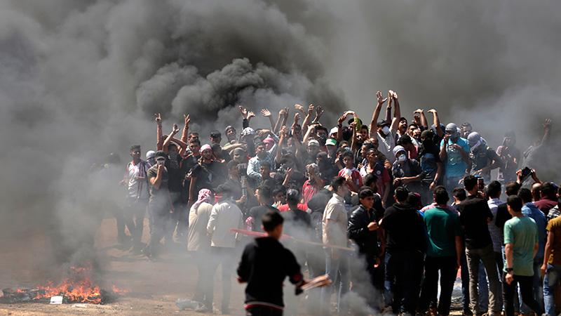 Al menos 16 muertos y en represión de Israel a protesta palestina