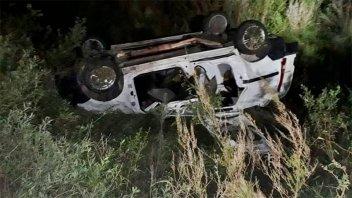 Despiste y vuelco fatal en Ruta 14: una mujer falleció