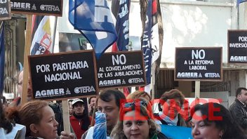 Fuerte cuestionamiento al FMI durante la Marcha Federal Educativa