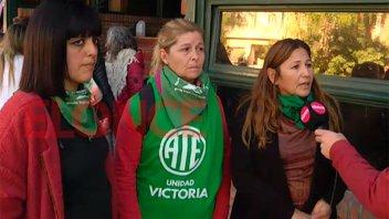 ATE realizó un debate y manifestación por la despenalización del aborto
