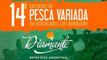 Preparan el Certamen de Pesca Variada en Diamante con importantes premios