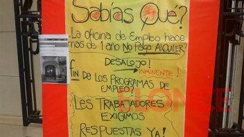 Asambleas y retención de servicios en la Oficina de Empleo de Paraná