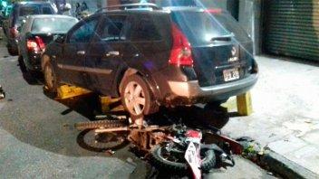Difundieron el video del momento en que bailarina atropella y mata a motochorro
