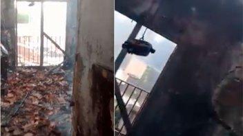 Videos: así quedó la casa contigua al lugar en que comenzó el incendio