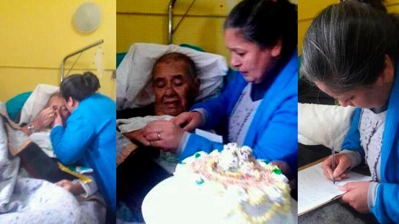 Delia y Gualberto sellaron su amor en el hospital de Feliciano.