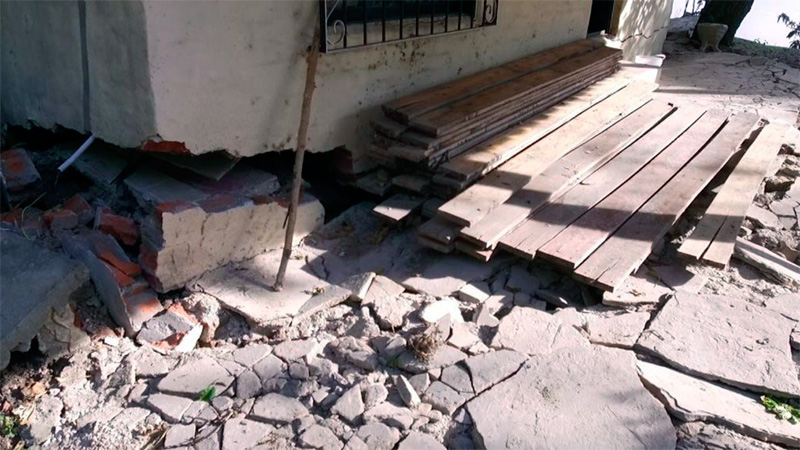 Casas afectadas en puerto Alvear.
