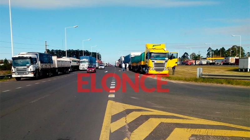 Camiones en Concordia.