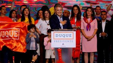 Iván Duque fue elegido nuevo presidente de Colombia
