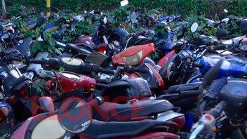 Compactarán más de dos mil motos secuestradas en operativos de tránsito