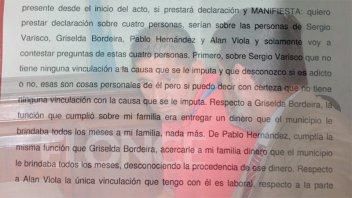Celis desvinculó de la causa por narcotráfico a Varisco y a otros procesados