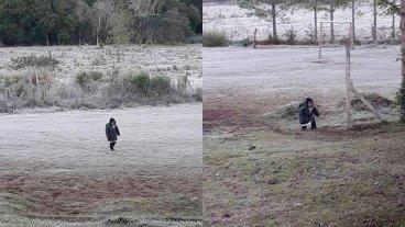 Pese a las heladas y las distancias, los niños no dejan de ir a la escuela