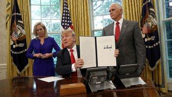 Trump dio marcha atrás con la polémica separación de familias de inmigrantes