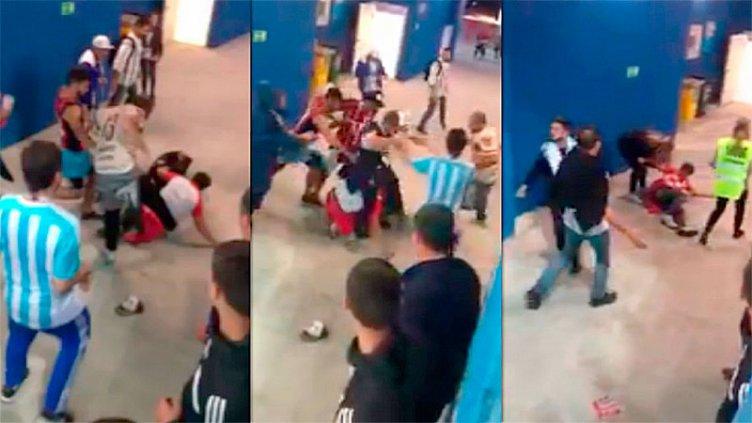 La peor imagen: Brutal paliza de hinchas argentinos a croatas tras la derrota