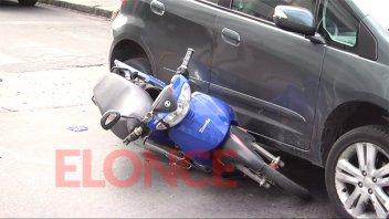 Imprevista maniobra de motociclista generó un choque y demoras en el tránsito