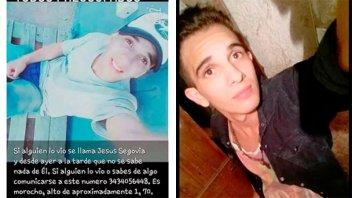 Buscan a un joven de 21 años desaparecido desde este viernes en Paraná