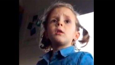 Video: El reto de una nena a su papá por insultar al arquero de la Selección