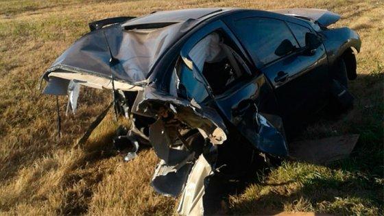 Chocó, su auto se partió en dos y salvó su vida de milagro