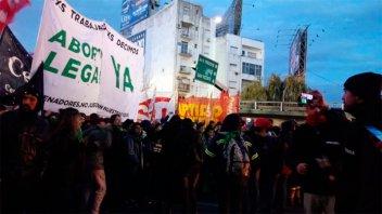 Manifestantes cortaron principales accesos a la ciudad de Buenos Aires