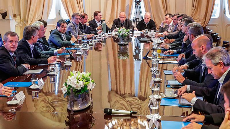 Macri en la última reunión de Gabinete.