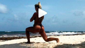 Entrenamiento en bikini y más: Fotos y videos de las vacaciones de Sol Pérez