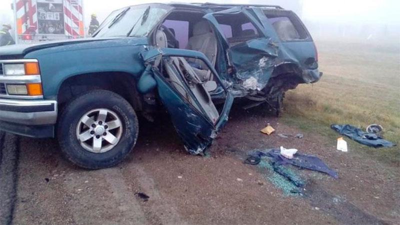 Accidente dejó cuatro heridos en el ingreso a Crespo.