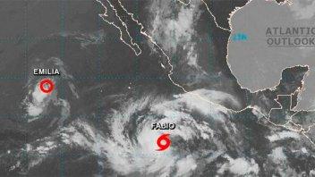 Tormenta Fabio se convirtió en huracán frente a las costas del Pacífico mexicano