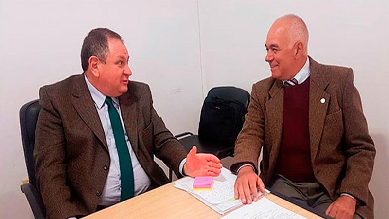 Rogel con el jefe de la Delegación Corrientes, Cnl (R) Darío Selser
