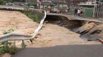 Trágico temporal: al menos 30 muertos por lluvias torrenciales en Japón