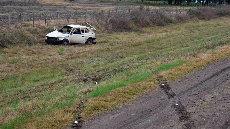 El Fiat 147 quedó completamente destrozado