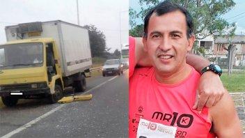 Falleció el hombre chocado por una moto cuando cambiaba un neumático