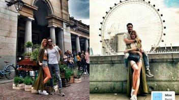 Nicole Neumann y Matías Tasín, enamorados en Londres
