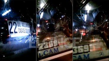 Otro colectivo urbano fue apedreado: Video muestra la indignación del chofer