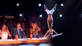 Dramático accidente de una trapecista en un programa de TV
