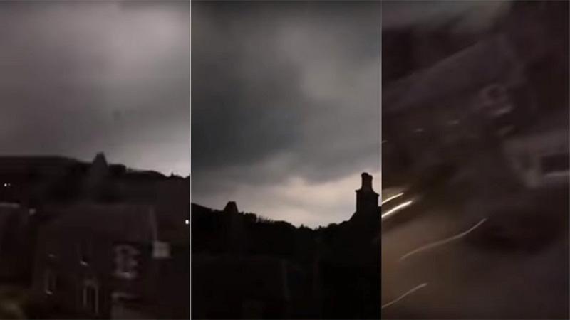 Mujer graba una tormenta y un rayo impacta a su teléfono celular