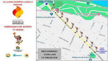 La Antorcha Olímpica llega hoy a Paraná: Recorrido y cortes de tránsito