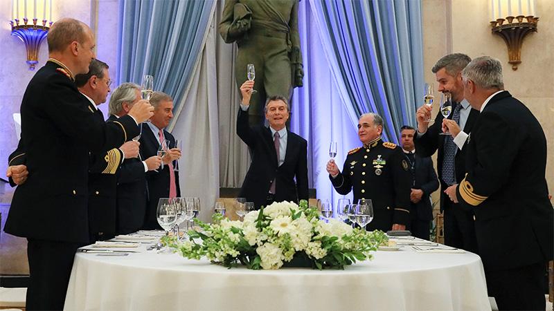 Macri participó de la Cena Anual de Camaradería de las Fuerzas Armada