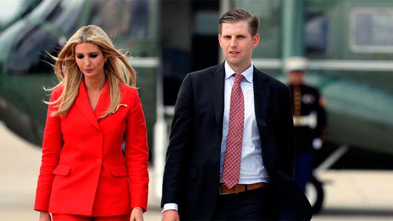 Ivanka Trump, junto a su hermano Eric Trump