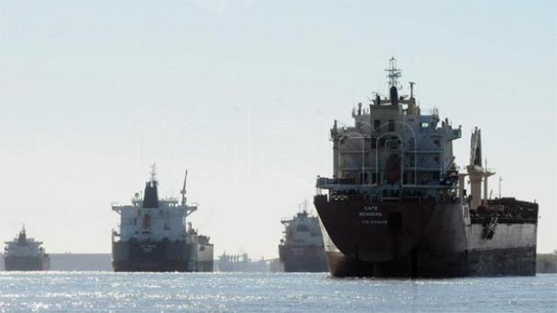 Los buques salen hasta con un 10% menos de carga