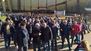 Legisladores y concejales sesionaron en el Astillero Río Santiago