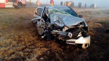 Cuatro hospitalizados por choque y vuelco sobre Ruta 12