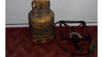Recuperaron la garrafa y el quemador que fueron robados al Club Palermo