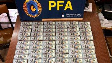 Detienen a dos sujetos con u$s 40 mil, pesos uruguayos y cheques en la Autovía